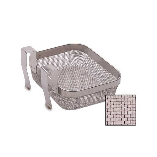 "4"" x 5"" Inch Fine Mesh Stainless Ultrasonic Cleaning Basket"