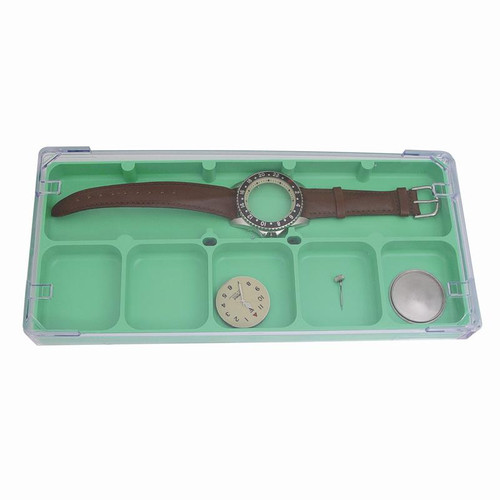 Space saving watch repair tray organizer