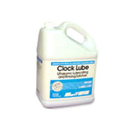 Lubricating and rinsing fluid for use when cleaning clock parts