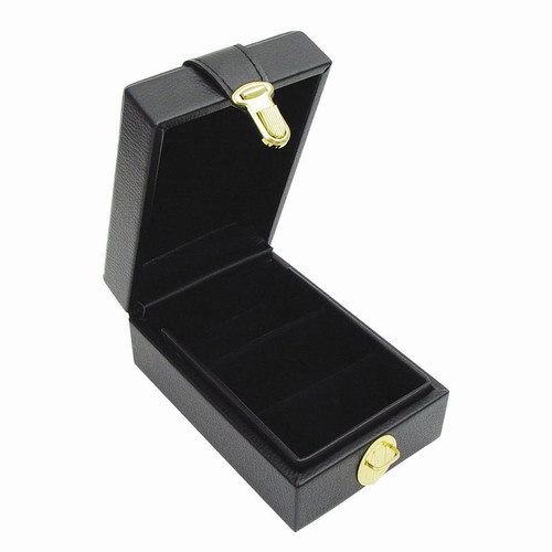 Small black precious gem parcel box