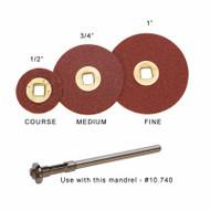 Moore's Adalox Brass Center Sanding Discs Aluminum Oxide Box 100