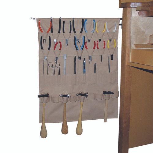Space saver apron jewelry tools holder