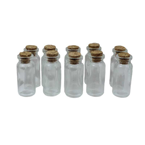 Glass Bead Bottles with Cork Lids