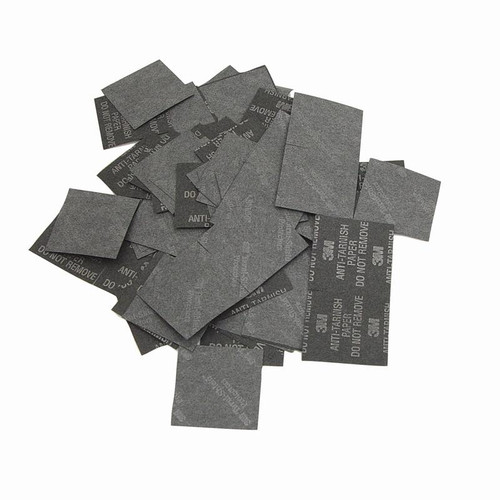 "250 pc set of 3M 1"" square anti-tarnish paper tabs"