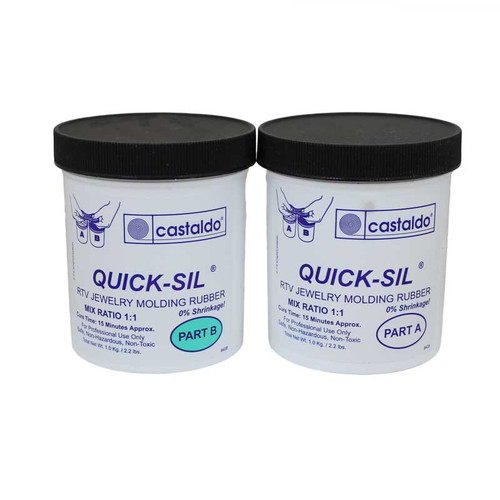 Castaldo Quick-Sil Rubber RTV Silicone Mold Making Compoun Kit