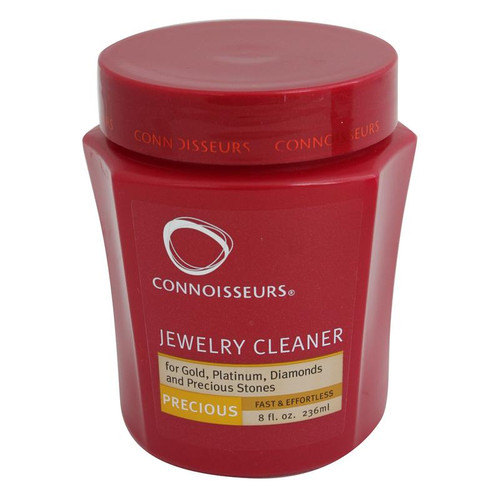 8-ounce jar of Connoisseurs Jewelry Cleaner in regular formula