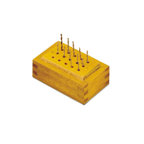 12 Piece High Speed Steel Twist Drill Set in Wood Block
