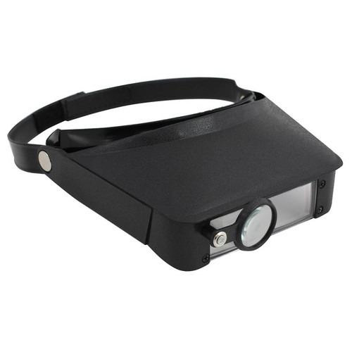 Head magnifier for jewelry and watch repair