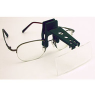 Clip-on biocular jewelry magnifier for up-close magnification of miniature jewelry