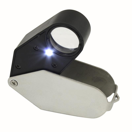 21mm x 10x GemOro LED light jewelry loupe