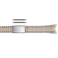 Stainless steel jubilee style two tone link watch band