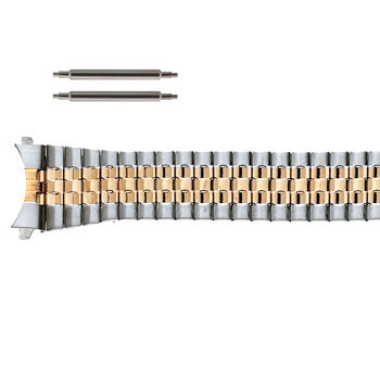 20mm two tone curved end tapered expansion watch band