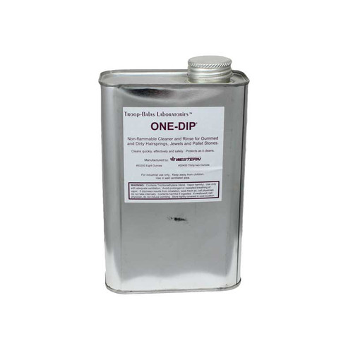 One-Dip quart watch hairspring cleaner for preventing rust and acid