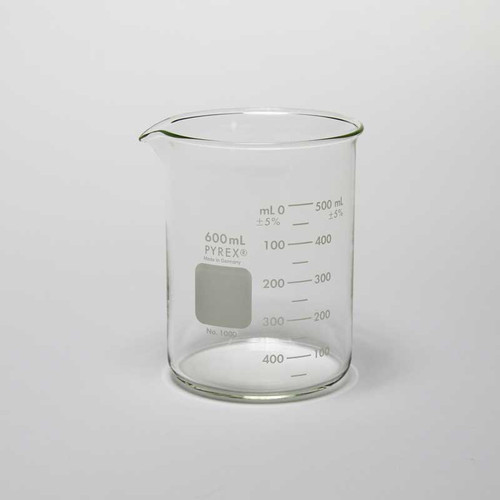 Pyrex Beaker Glass 600 mL for Plating and Cleaning Solutions