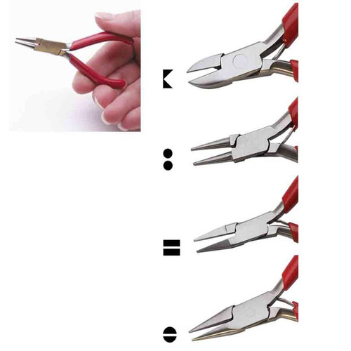 Set of 4 miniature pliers