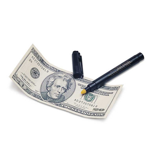 Money Detective Pen to Verify Legal Tender