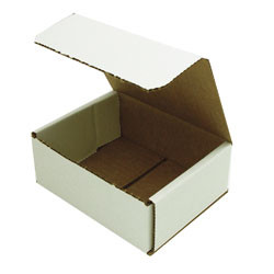 10 small 5.5x4.25x2 inch easy fold mailer boxes