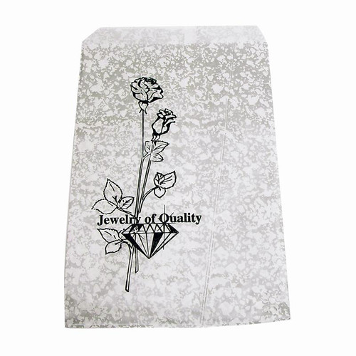 Silver crackle high quality jewelry gift bags