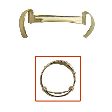 Package of 12 mens yellow gold filled Stronghold ring guards