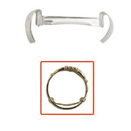Stronghold Ring Guards, Gents White Gold Filled One Dozen