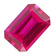 Emerald Cut Lab Created Ruby