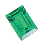 Straight Baguette Lab Created Emerald
