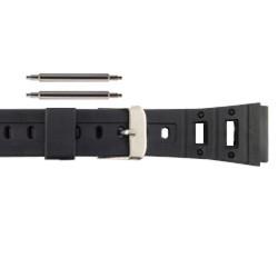 20mm rubber sport watch band