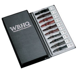 Leather watch band presentation book holds 40 leather bands