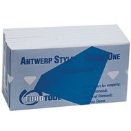 Box of 100 blue Antwerp style diamond papers