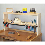 Shelfmate bench shelf for holding jewelry