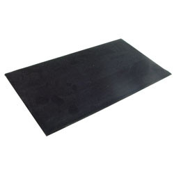 Plain black velvet pad to showcase jewelry