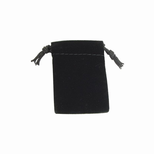 Small black velvet jewelry pouches