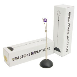 3.25-inch gem holder for displaying gemstones or holding jewelry