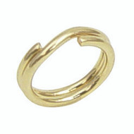 One package of yellow gold filled round split rings