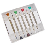 7 piece watch repair screwdriver kit box for watchmakers