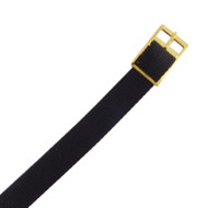 12 mm black nylon watch strap