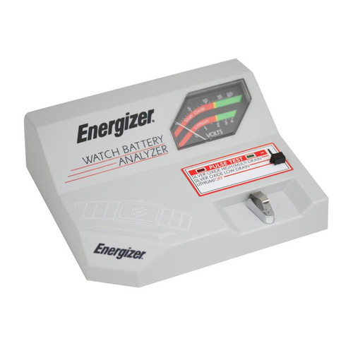 An Eveready Energizer W3000 battery tester for checking watch batteries