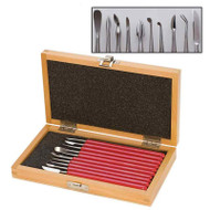 Ten piece wax carver set with PVC handles