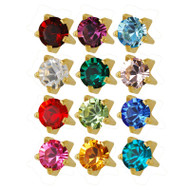 Studex assorted 3.0mm Tiffany set birthstone ear piercing studs