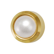 Studex Ear Piercing Studs Pearl Bezel Set 3.0mm