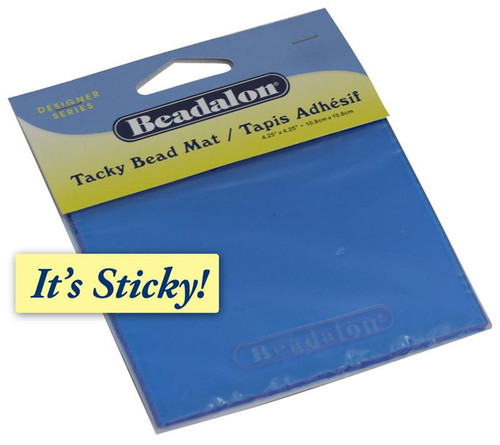 Tacky bead mat provides a sticky surface for beading.