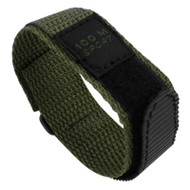Olive green nylon sporty watch strap