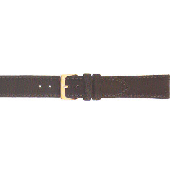 16MM black suede leather watch strap