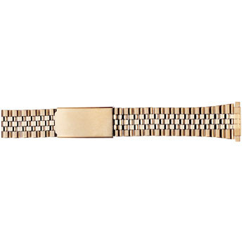 22MM men's watch band in classic yellow gold tone finish