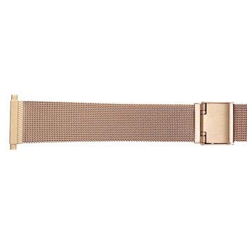 Men's 22mm yellow gold tone dress mesh watch band