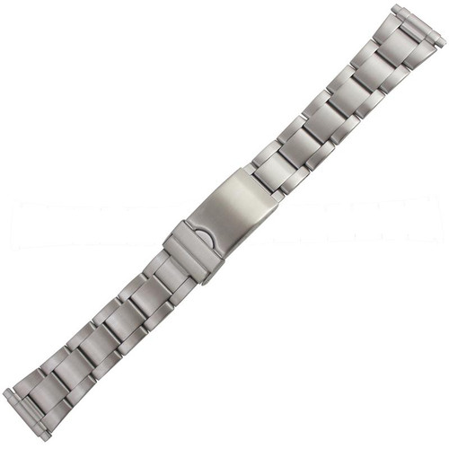 21MM men's sport stainless steel metal watch band