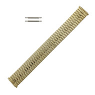 Metal Watch Band 16-21MM Yellow Gold Tone Expansion Style