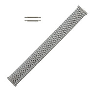 Metal Watch Band Stainless Steel Jubilee Style Expansion Band with Expandable Ends 16-21MM