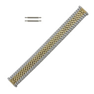 Metal Watch Band Two Tone Jubilee Style Expansion Band with Expandable Ends 16-21MM