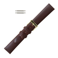 Brown Leather Watch Strap Luxury Calf 19MM